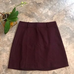 Maroon plum mini skirt